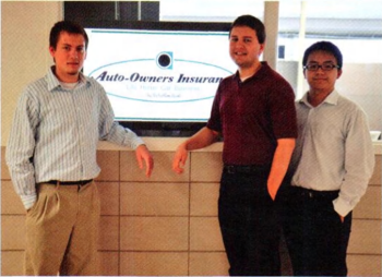 Team Members (L-R): Justin Hammack, Paul Fritschen, Lingyong Wang