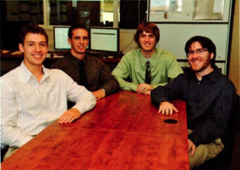 Team Members (L-R): Devin Rosen, Nicholas Palm, Christopher Heuser, Joshua J. Theisen