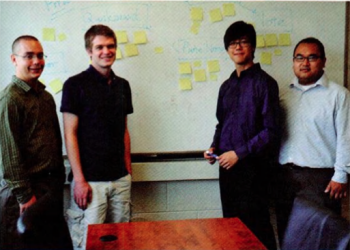 Team Members (L-r): William S. White Jr., Luke Davis, Jin Hou, Danh Tran