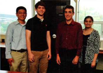 Team Members (L-R): Mark Sun, Andrew Rockwell, Peter Rifel, Riti Adhi
