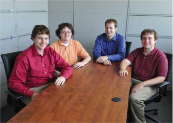 Team Members (L to R): Kevin Klemmer, Andrew Crouch, Brandon D'Orazio, Alex Conklin