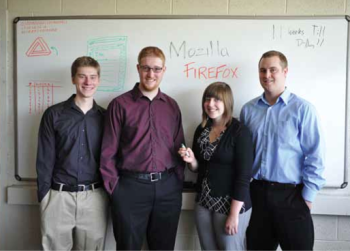 Team Members (L to R): Michael Anderson, Matthew Vorce, Chelsea Carr, Kevin Woodward