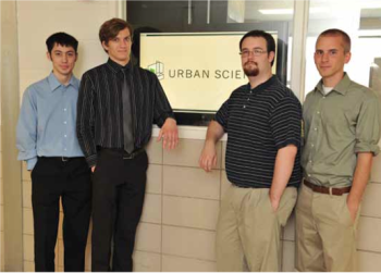 Team Members (L to R): Forrest Young, Dominykas Siaudvytis, Brandon Kienle, Jake Wesorick