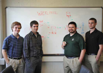Team Members (L to R): Zachary Taylor, Joseph Tuohey, James Solce, Derrick Neier