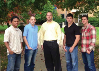 Team Members (L to R): Cerronne Cathey, Calan Underwood, Mason Pike, Michael Robell, Kilian Davis
