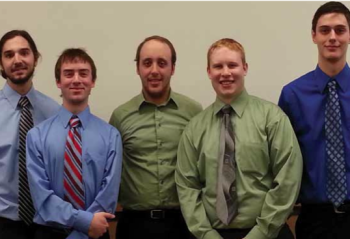 Team Members (L to R): Camden Smith, Ryan Lattrel, William Juszczy, Mark Birdsall, Michael Lazar