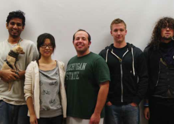 Team Members (L to R): Aditya Mathew, Yongjiao Yu, Scott Friedman, Nathan Hyde, Peter Ossian