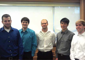 Team Members (L to R): Derek Brower, Matt Affeldt, Phil Jaworski, Jung-Chun Lu, Alex Volinski