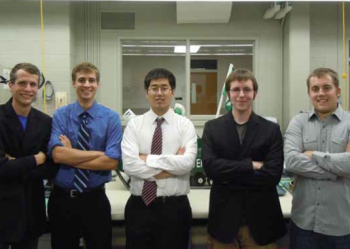 Team Members (L to R): Sean VanHaren, Frank Doherty, Xiao Xu, Tom Larter, DJ Eaton