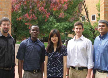 Team Members (L to R): Erik Butterfield, Tabula Mbala-Nkanga, Menglin Li, Samuel Richter, Daniel Perez