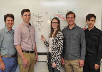Team Members (L-R): Brian Chivers, Chase Grove, EMily Klopfer, Eric Nartker, Ben Toth