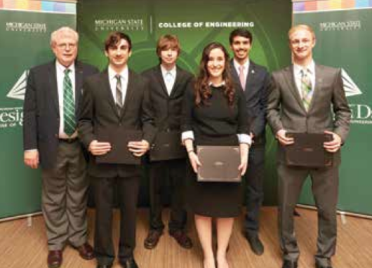 Left to Right: Dr. Tom Wolff, Kyle Burgess, Richard Skrbina, Caitlin Slicker, Ali ElSeddik and Chris Vogler
