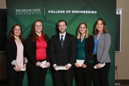 Left to Right: Darby Spiegel, Abigail Wulf, Alexander Caine, Abigail Livingston, Morgan Weber