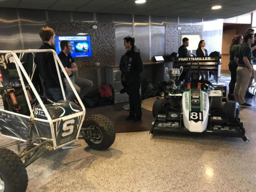 The Baja and Formula Engineering student groups show off their vehicles
