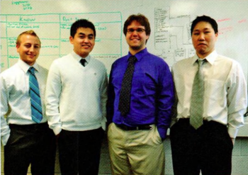 Team Members (L-R): Alex Walworth, Jong Jang, Ben Pedersen, Jun Lee