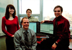 Team Members (L-R): Caitlin Russ, Evan Francis, Michael Holp, Christopher Paterson