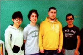 Team Members (L to R): Chan Jaegal, Scott Sutton, Andrew Rauch, Guangnian Yang