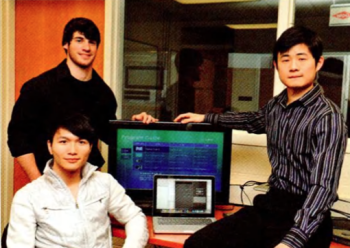 Team Members (L to R): Yudong Yi, Cory Harter, Linwei Zhu