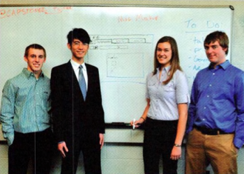 Team Members (L to R): JOn Rietveld, Zuhao Chen, Devan Sayles, Owen Carpenter
