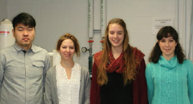 (left to right) He Zhao, Laura Bartow-Goudie, Jennifer Andrews, Natalia Pajares