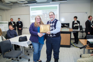 ME project sponsors receive recognition plaques at Design Day