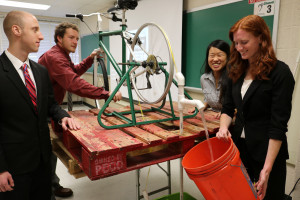The Human Powered Water Pump in action
