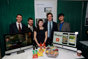 "The Computer Science Whirlpool team with the ""Mooch"" mobile app"
