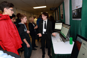 A CSE student explains his team's project sponsored by Mozilla