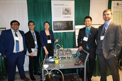 The BorgWarner team with their Electrically-Assisted Engine Oil Pump