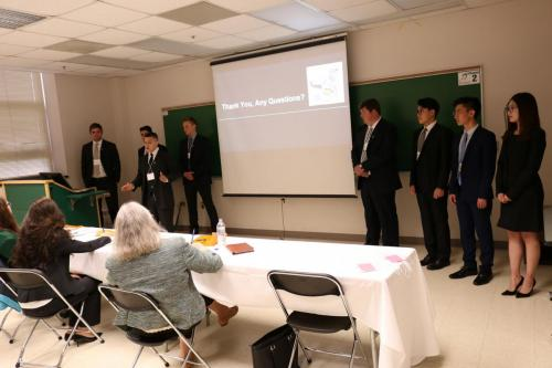 Applied Engineering students present their project to visitors and a panel of judges
