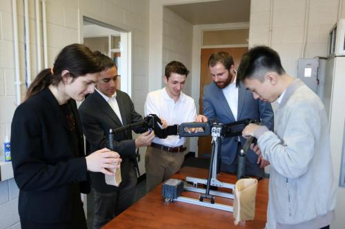 Team Urban Science tweaks their Mobile Maestro exoskeleton arm