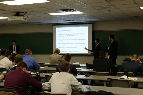 Materials Science students present their torque wrench failure analysis