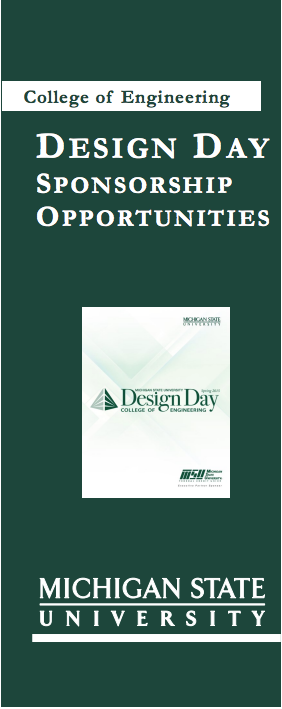 Design Day sponsorship opportunities