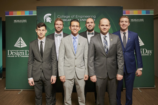 Left to right: Kevin McCarty, Mitchell Pollee, Amad Wahib, Anxhelo Lalaj, Matthew Walz, Michael Rasmussen