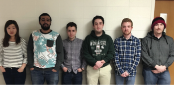 Team Members (L-R): Beiting Huang, Saleh Alghamdi, Samuel Metevia, Patrick Pomaville, Justin Fecteau, Jacob Jones