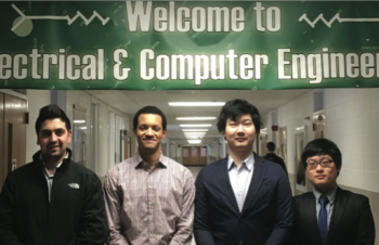 Team Members (L-R): Abdelrahman Abduljaber, Julien Brown, Chen Yu, Deliang Wang