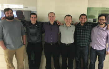 Team Members (L-R): Jeff Walthers, Joe Schmitz, Nick Mirallegro, Wen Ni, Eric Testa, Sean Ellison
