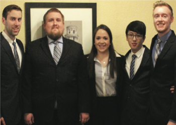 Team Members (L-R): Andrew Crechiolo, Richard Harrington, Katie Arends, Alvin Chiang, Steve Price