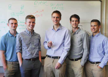 Team Members (L-R): Zach Rosenthal, Grant Levene, Brian Harazim, Cam Gibson, Andrew Werner