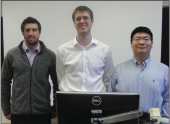 Team Members (L-R): Joshua Boucher, Benjamin Bailey & Yifeng Hu