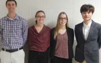 Team Members (L-R): Ryan Ziegler, Carly Daiek, Madeline Labelle & Injoon Oh